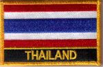 Thailand Embroidered Flag Patch, style 09.